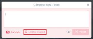 blank tweet