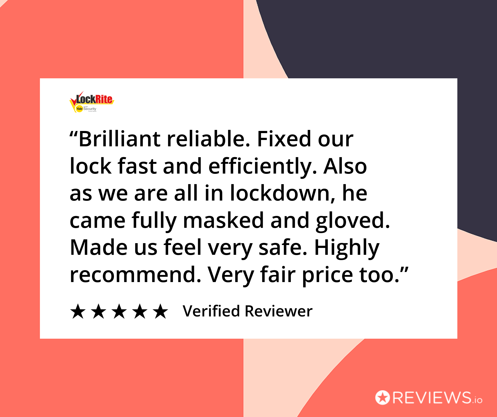 Locksmith customer review during UK Coronavirus Lockdown
