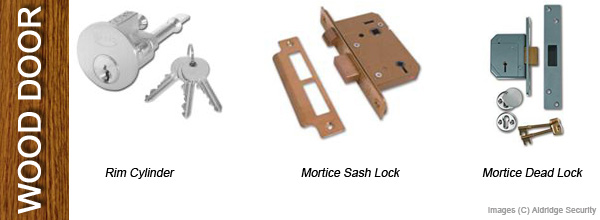Wood Door Locks - Rim Cylinder, Mortice Sash Lock, Mortice Dead Bolt