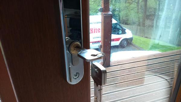 Diamond rated anti snap locks fitted