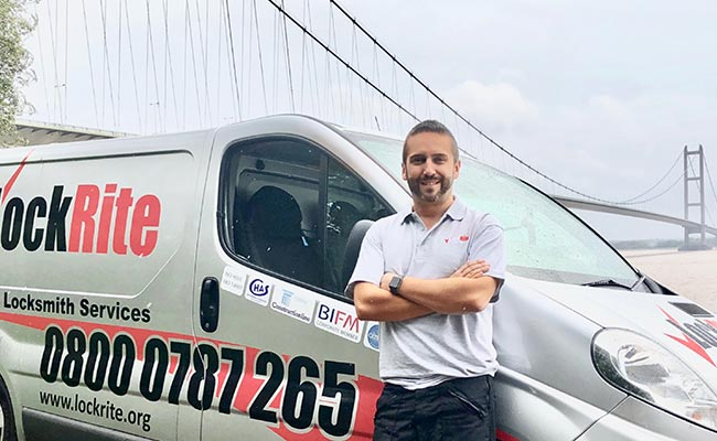 LockRite Locksmith - James Lowery Stood With Van At Humber Bridge