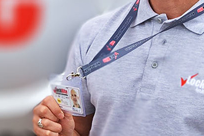 Locksmith Showing ID Badge