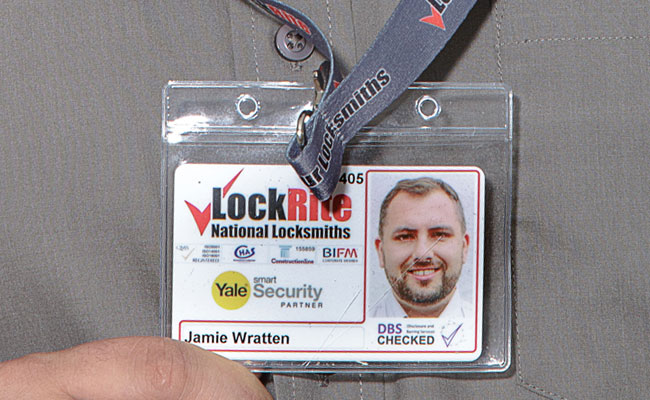 Lancing Locksmith ID Badge