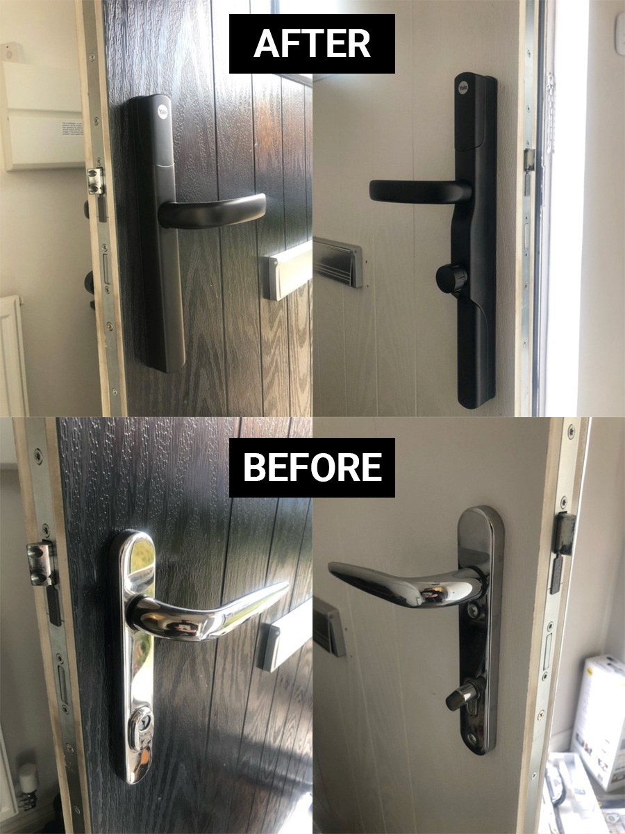Black Yale Conexis Lock Installed For Customer