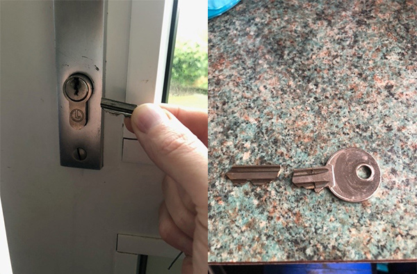 Broken key extraction