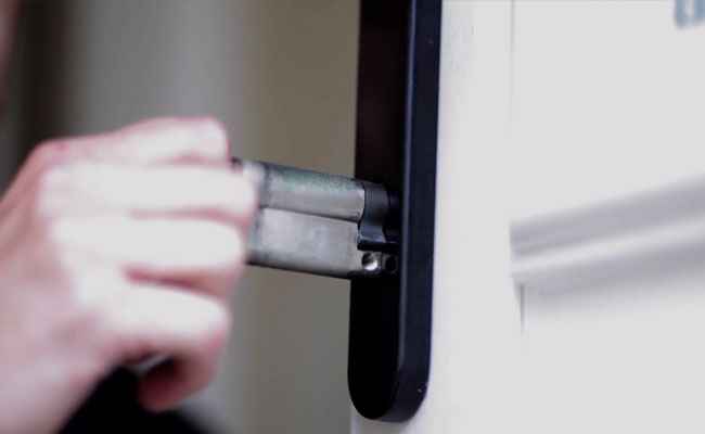 Locksmith Inserting Euro Cylinder