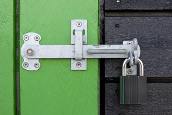 Shed Security With Padlock