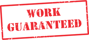 All Work Guaranteed Label